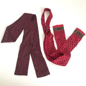 Western vintage Neckerchief scarf thin tie